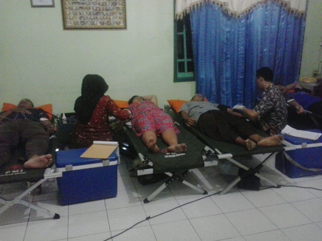Donor Darah Rutin Tri Wulanan Desa Pangebatan
