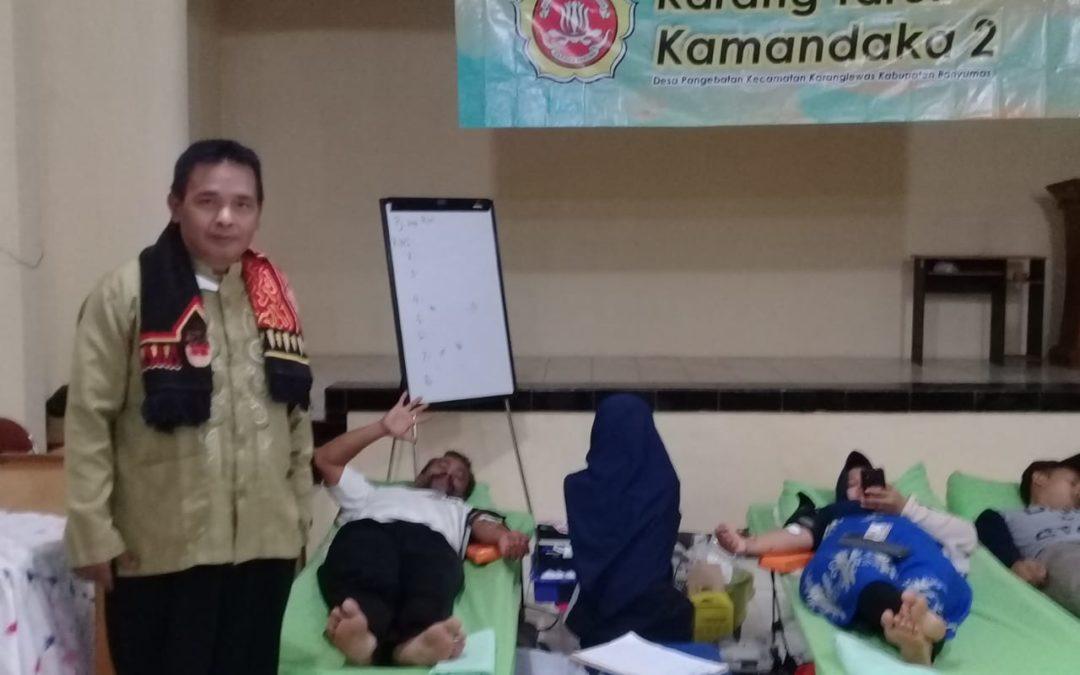 Peduli Kemanusiaan, Karangtaruna Pangebatan Gelar Donor Darah